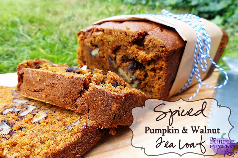Spiced Pumpkin & Walnut Tea Loaf #CraftyOctober