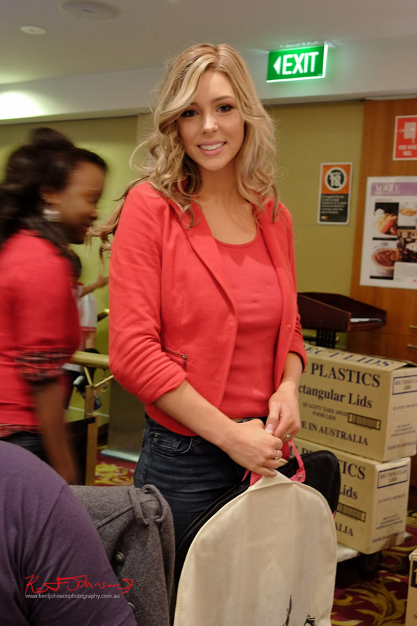 Jenna arriving, first day of judging Miss Earth Australia - Behind The Scenes 2012