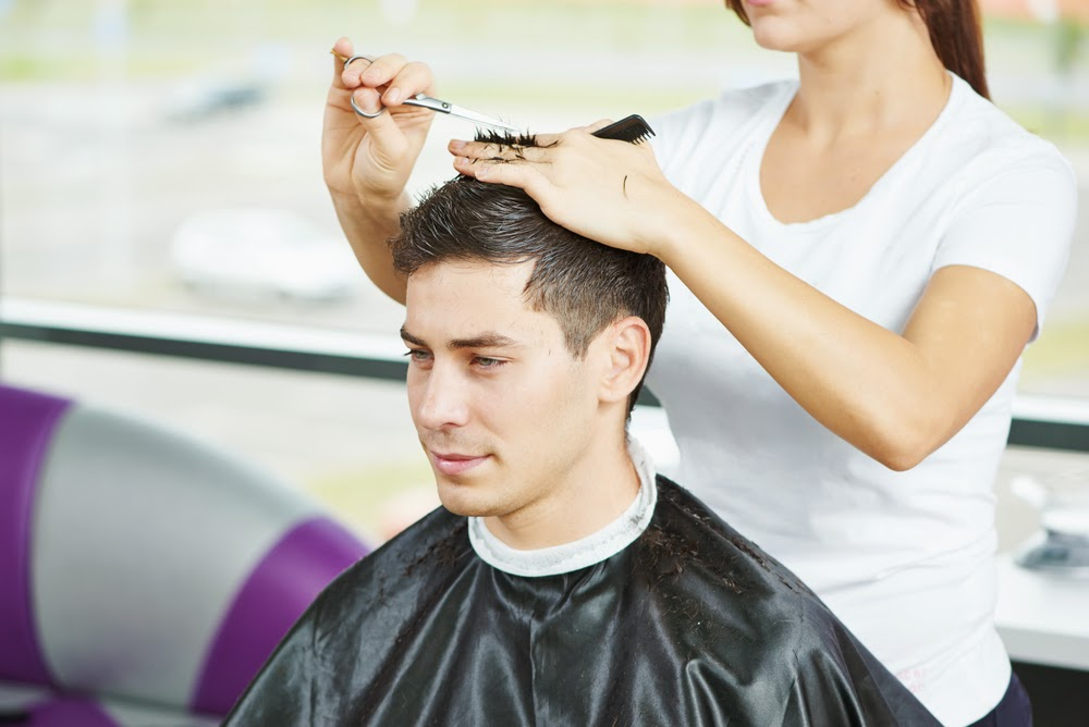 Man who does not talk at hairdresser, highly