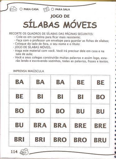 Top ATIVIDADES ESCOLARES ONLINE: Jogo de Sílabas Móveis, fichas  XS32