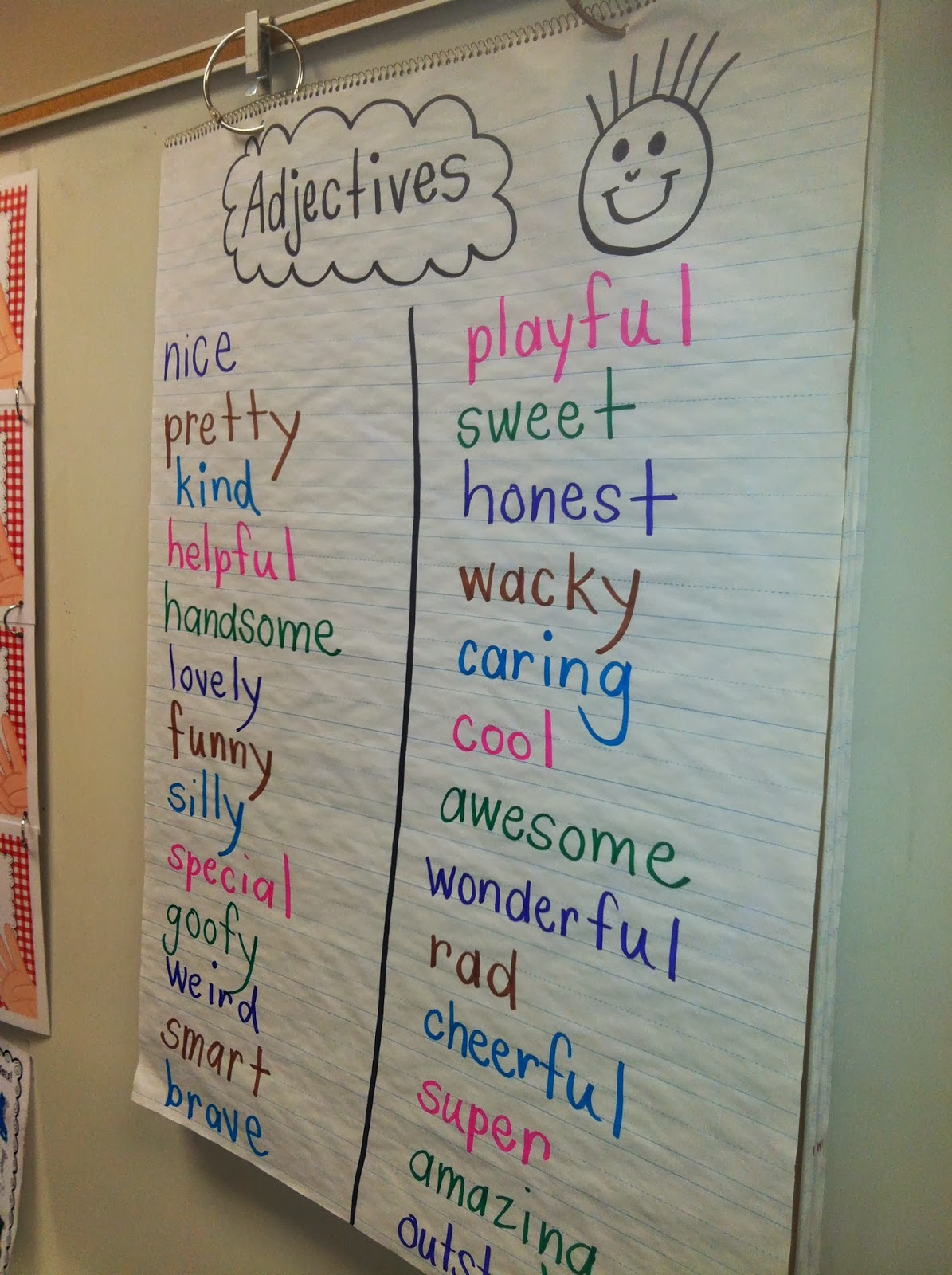 Worksheet Adjectives For First Grade mrs wheelers first grade tidbits adjectives