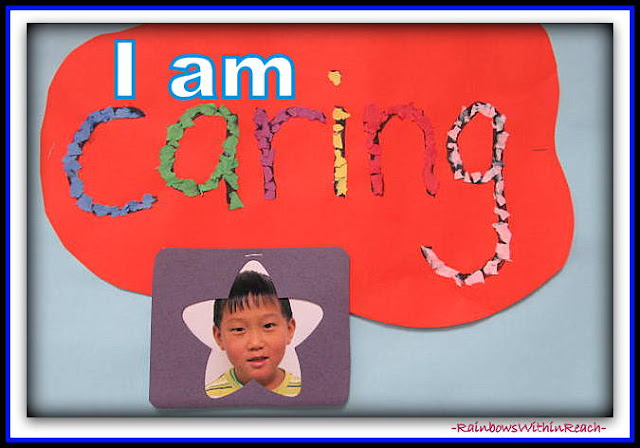 "photo of: ""I am caring"" in response to ""You're Wonderful"" by Debbie Clement"