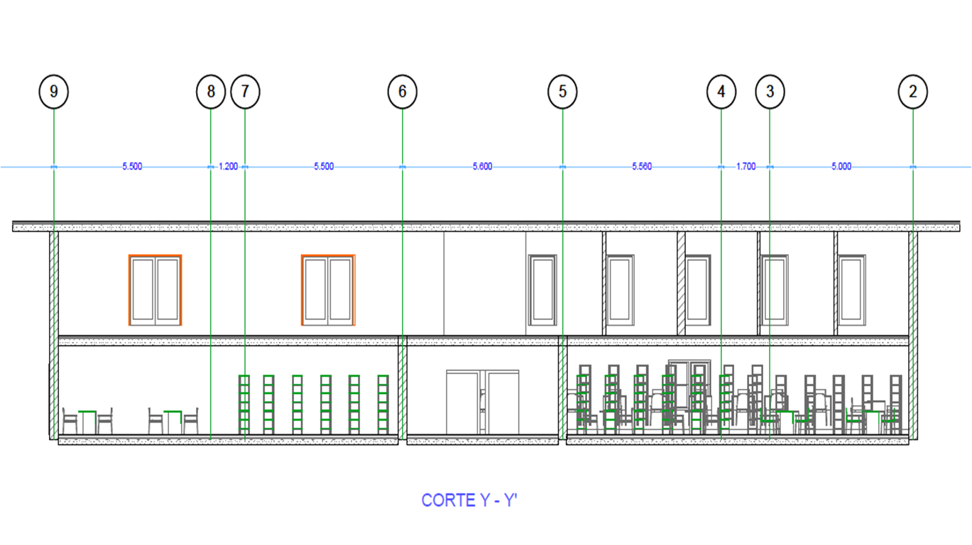 Proceso de dise o arquitect nico de una escuela superior for Cortes arquitectonicos