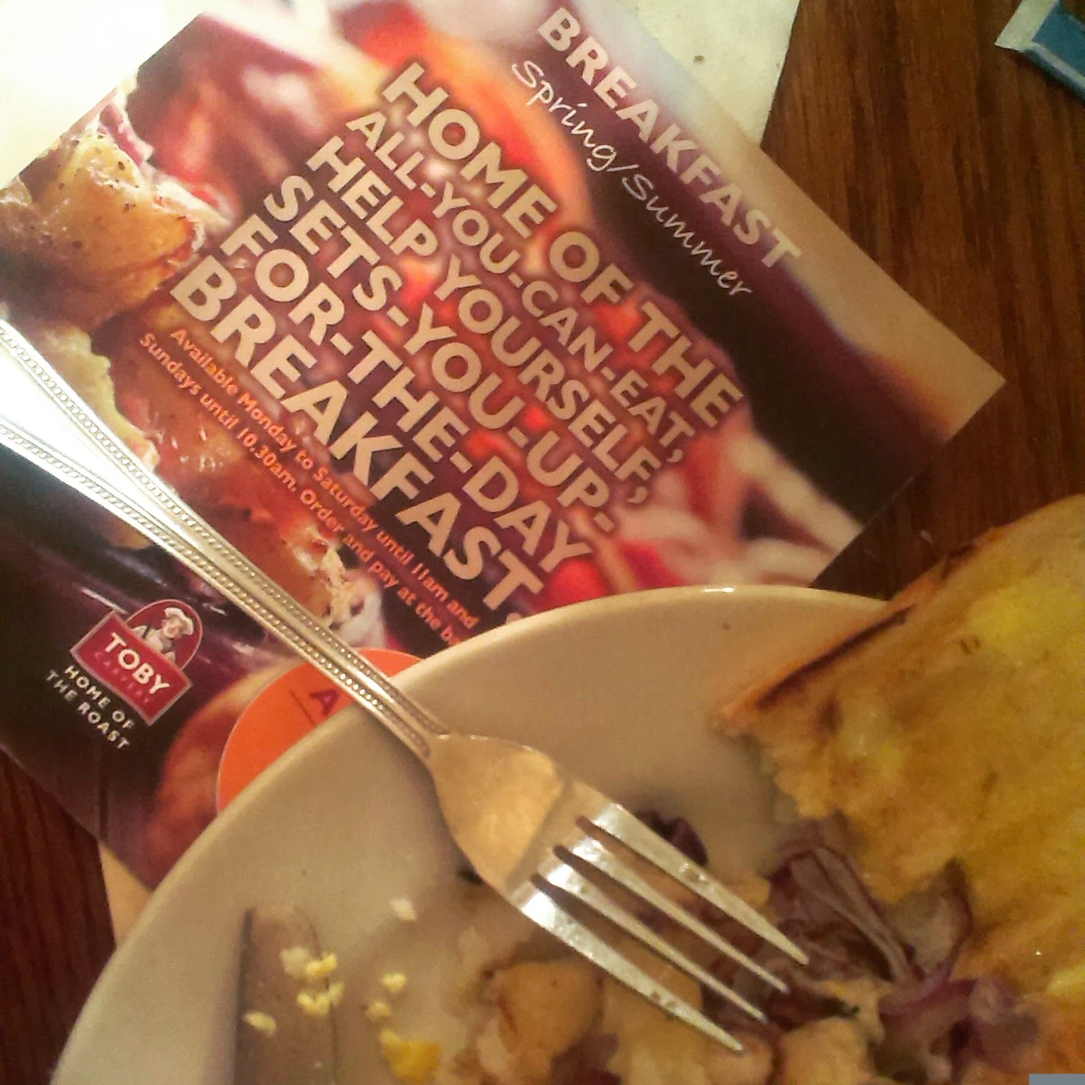 Toby Carvery breakfast