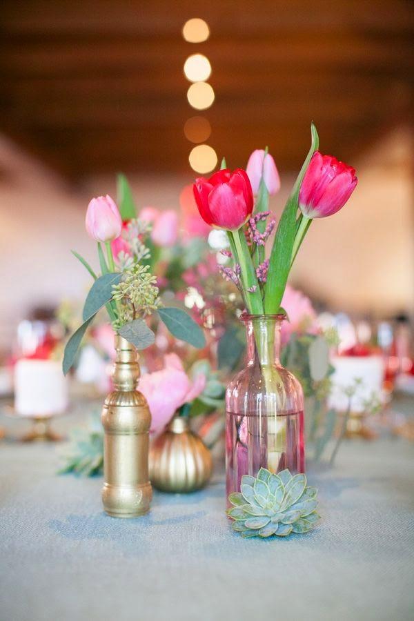 Beautiful bridal amazing tulip centerpieces
