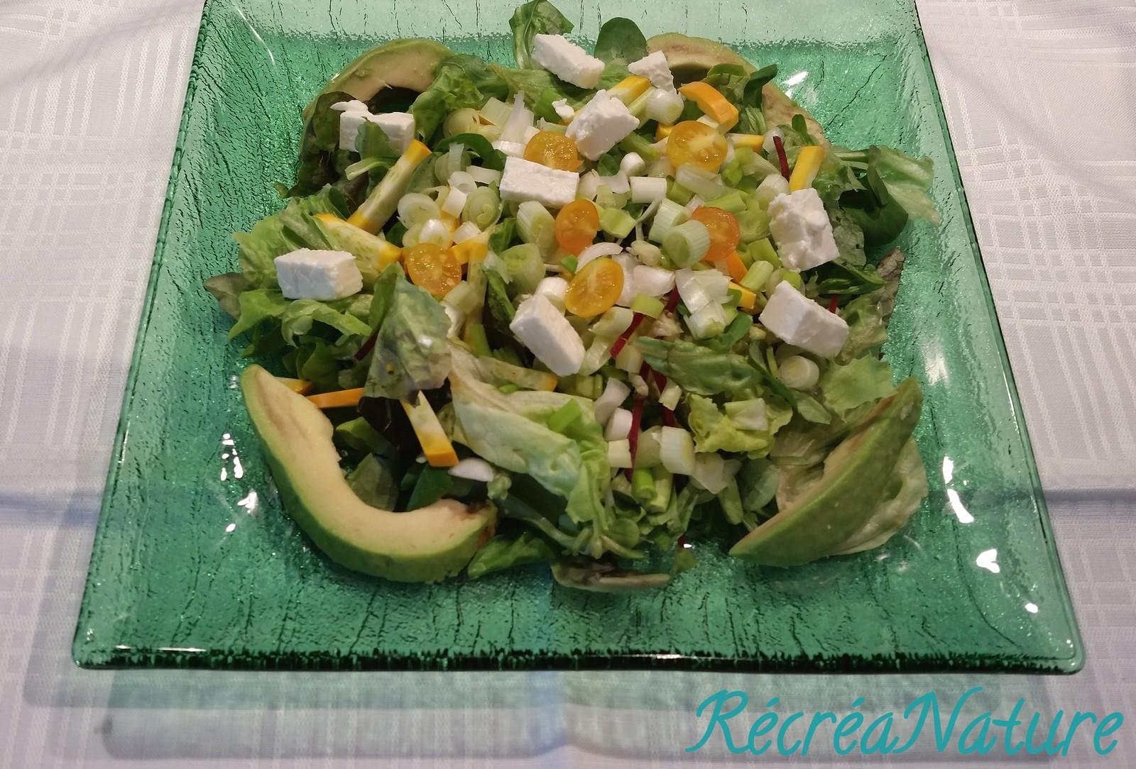 Salade compos e aux couleurs du soleil recette facile - Salade d ete composee ...