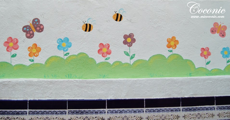 Decoraci n de guarder a infantil coconic decoraci n for Mural de flores y mariposas