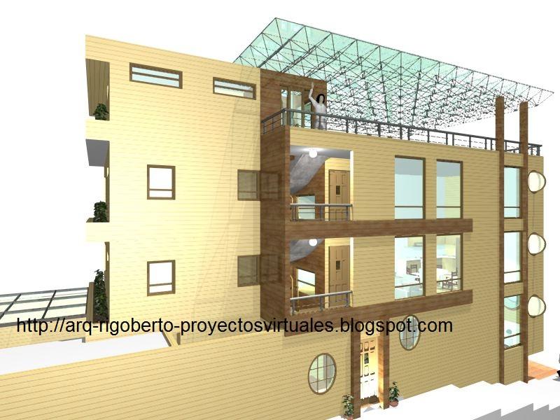 Proyectos virtuales dise o de casa habitaci n en 3d arq rigoberto s nchez l pez proyecto - Diseno de casa en 3d ...
