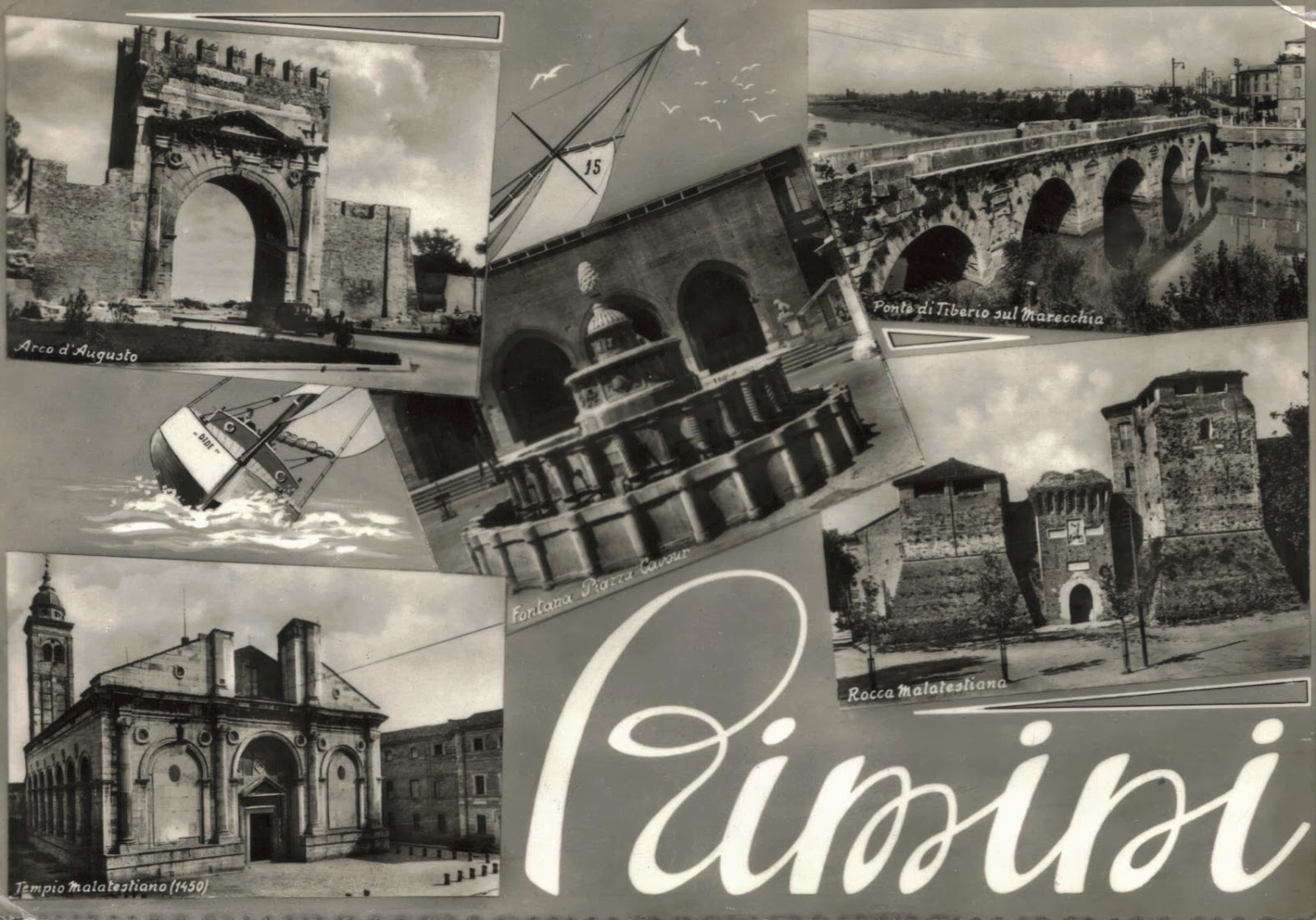 Black And White Postcard From >> Postcards And Viewcards 1950s Picture Postcard Of Rimini Italy In