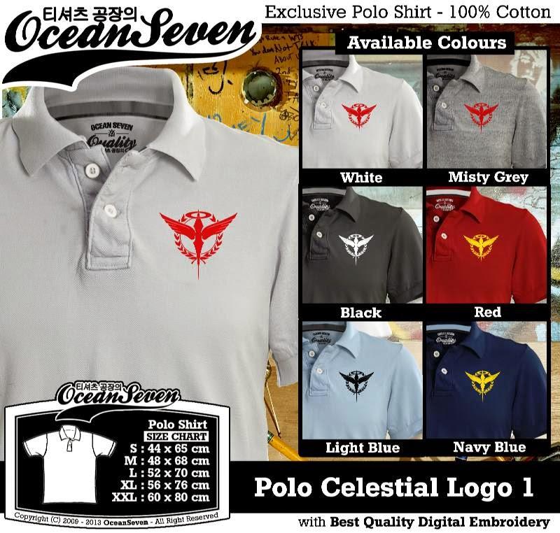 Kaos Polo Celestial Logo 1