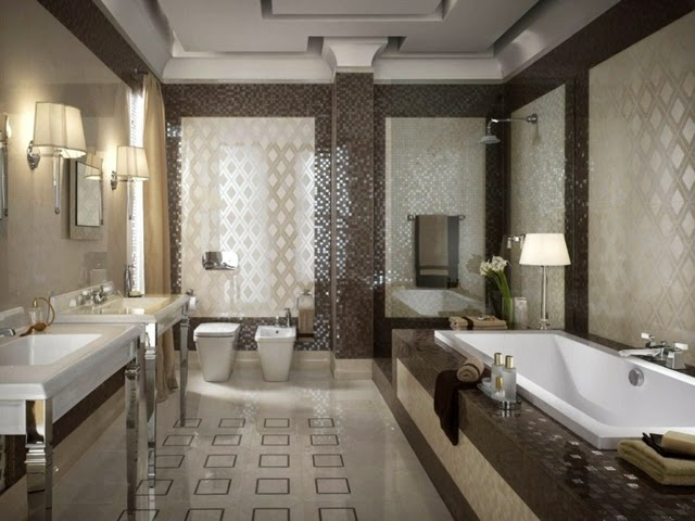 Modern Bathroom Tiles In Neutral Colors Bathroom Design