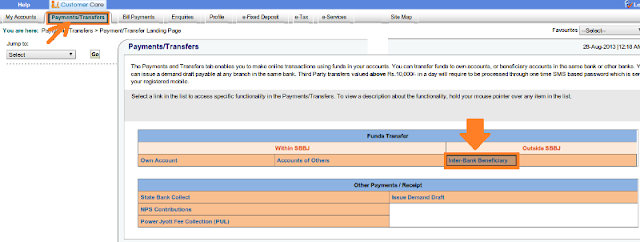 How to Transfer Money through SBI Net Banking