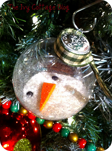 Homemade Christmas Ornaments Melted Snowman : Be different act normal melted snowman ornament