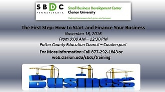 SBDC First Step Starting Your Business
