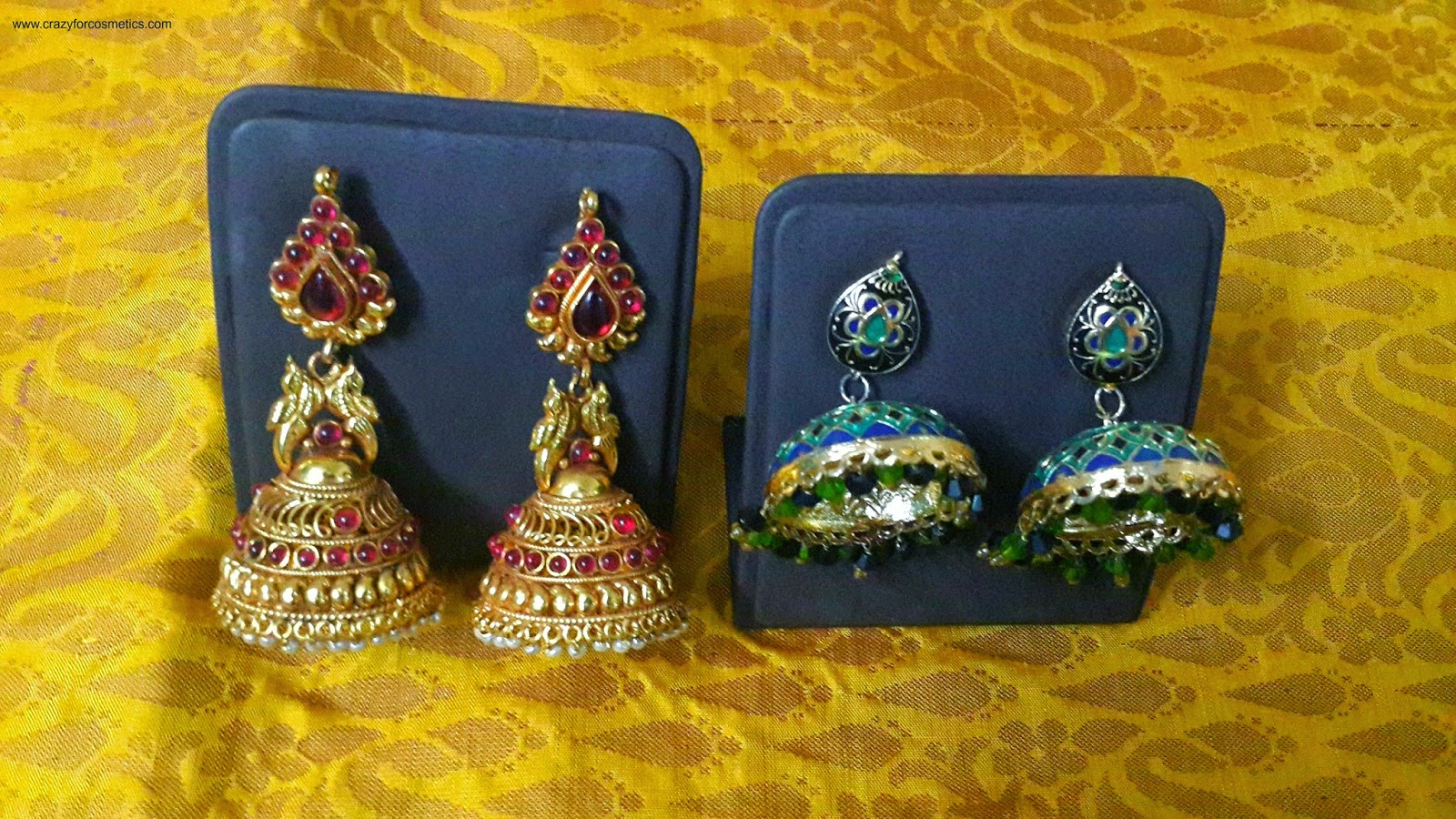 indian traditional jewellery-indian traditional jhumkas-south indian traditional jhumkas-indian traditional gold jhumkas-chand bali earrings- Indian jewelery