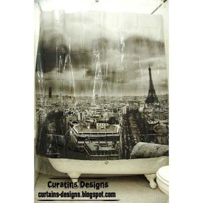 paris shower curtain style model design 30 Creative shower curtains unique designs, styles, photos 2
