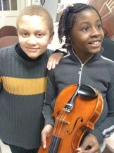 Children from The Conservatory Lab Charter School in Boston