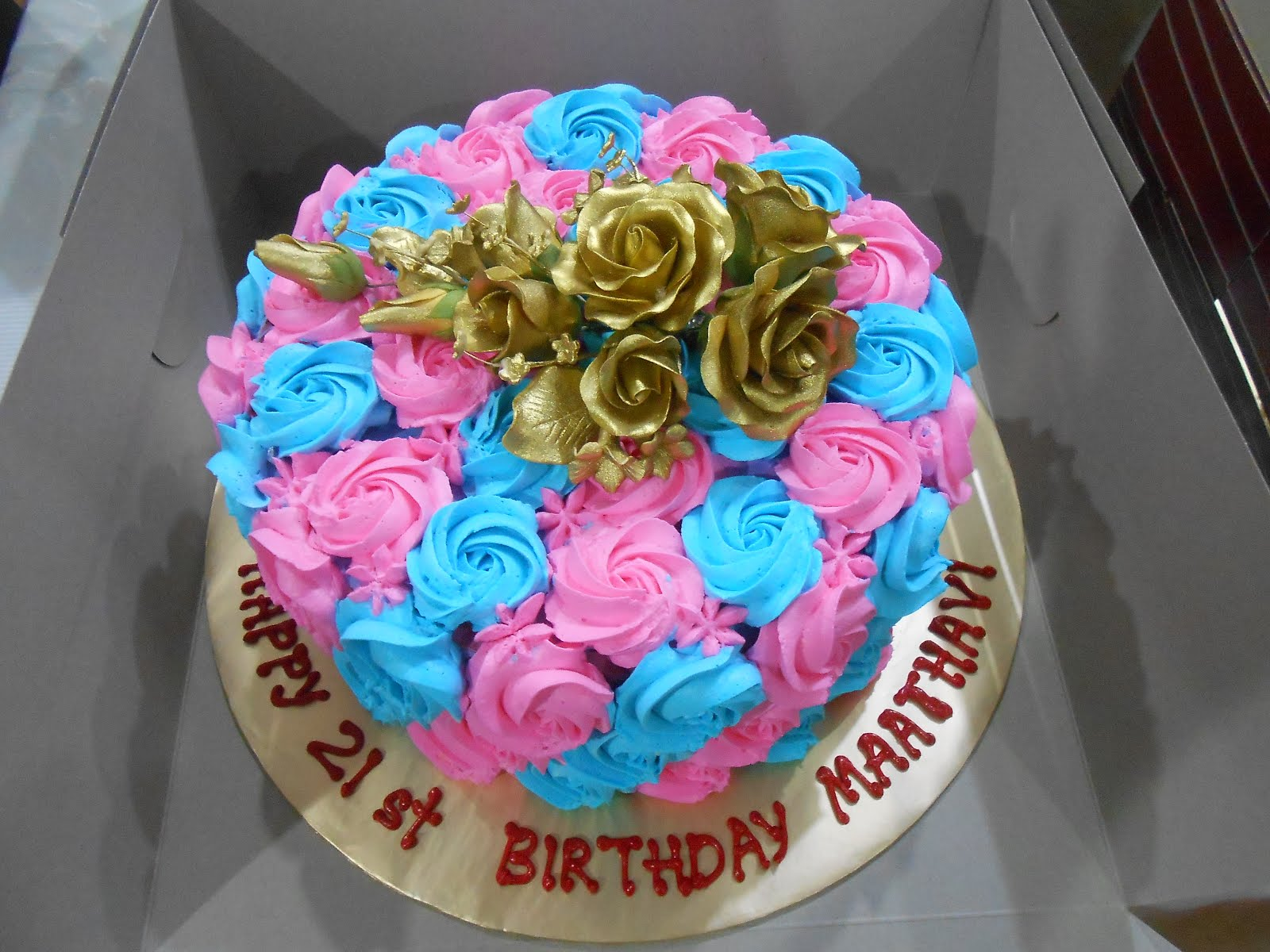 RAINBOW CAKE roses