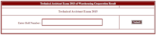 cgvyapam Technical Assistant Result 2015