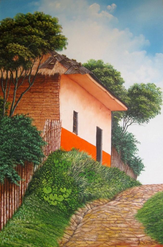 Im genes arte pinturas paisajes al leo de colombia - Casas viejas al oleo ...