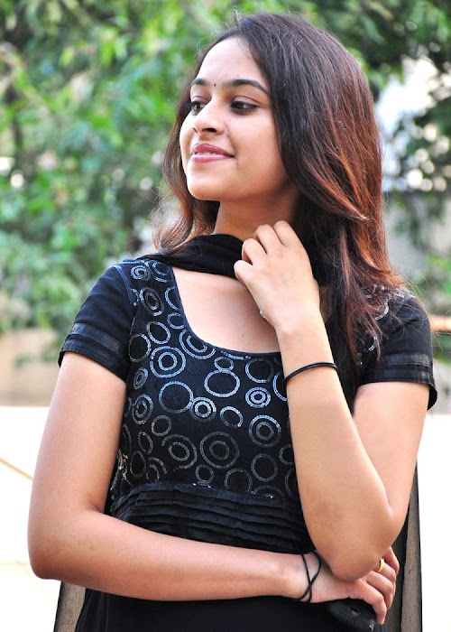 Sri Divya homely girl in black Anarkali salwar suit in Andhra Pradesh