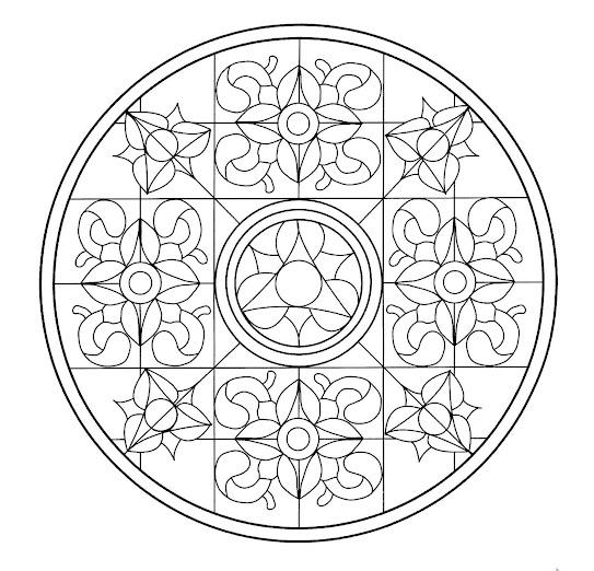 Mandalas para pintar estilo Mosaicos | Mandalas Para Pintar