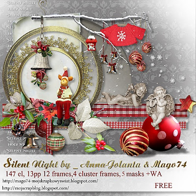 "Free scrapbook kit ""Silent night"" by mago 74"