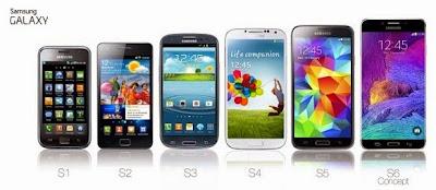 Predecesores del Samsung Galaxy S6