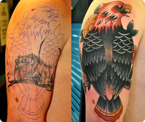Traditional B Eagle B Tattoos