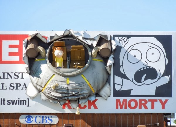 Rick and Morty crashed UFO special 3D billboard