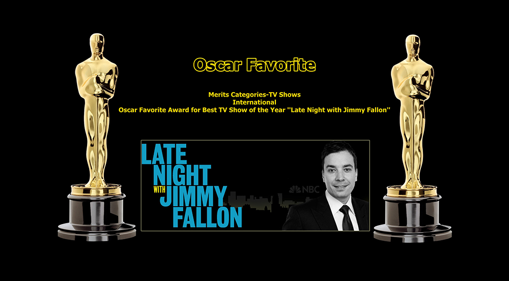 oscar favorite best tv show of the year international award late night with jimmy fallon