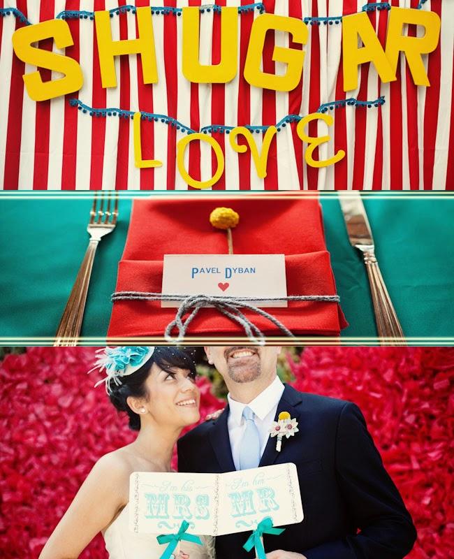 mariage jaune bleu et jaune et rouge