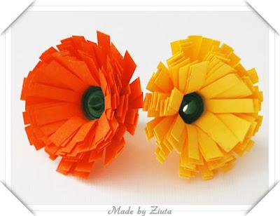 Kwiatek- quillingowa stokrotka