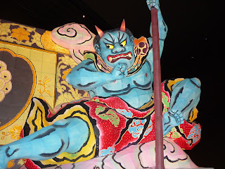Demon on colourful float at Wa Rasse Nevuta House in Aomori