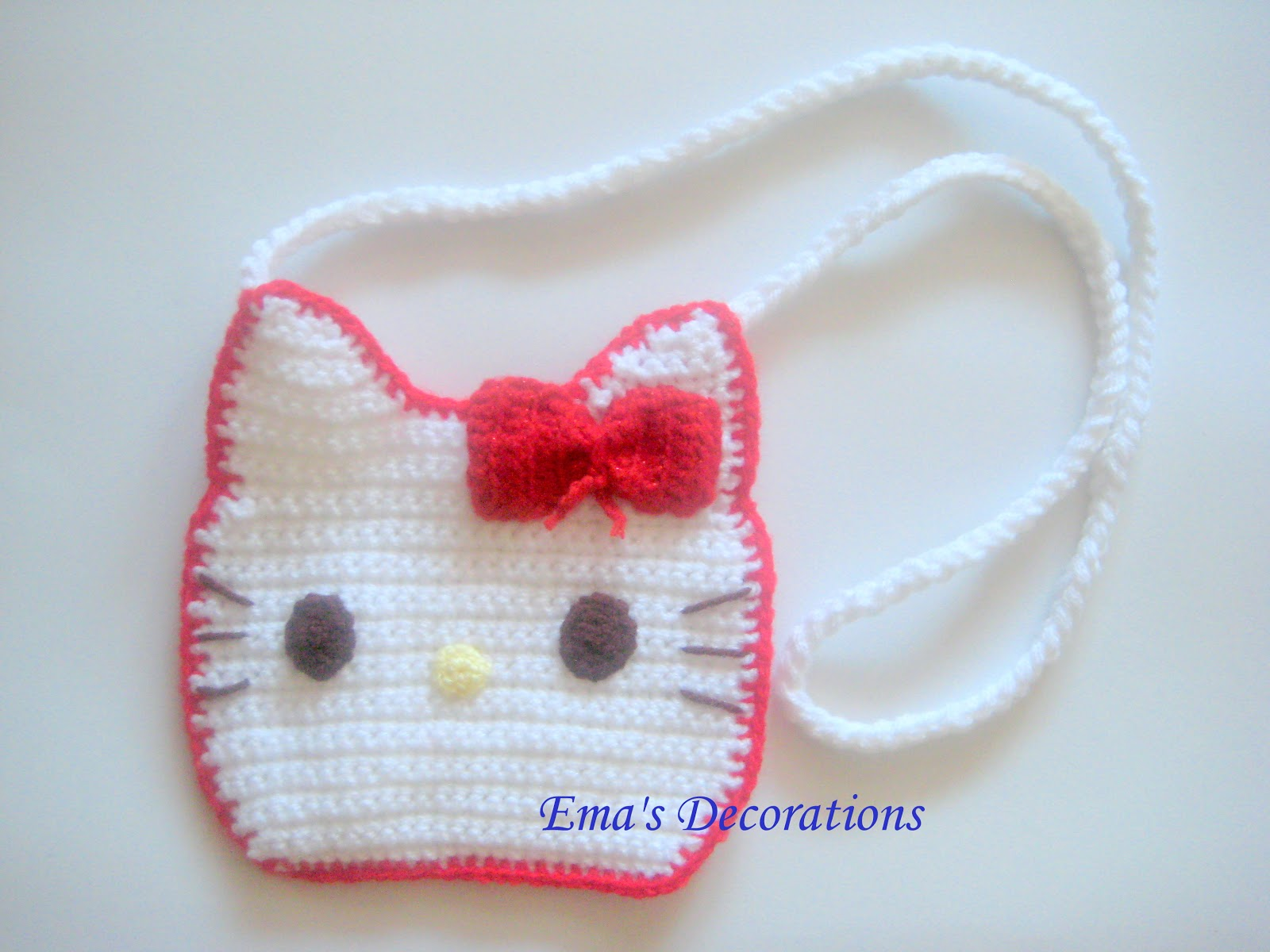 Crochet Purse Patterns Hello Kitty : Ema Decorations: Crochet Hello Kitty Purse - my pattern
