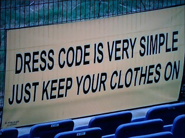 Dress Code, funny dress code sign, funny sign pictures