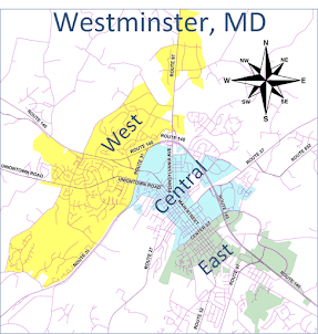 Westminster Maryland map