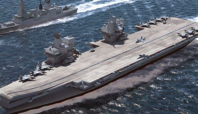 Nama Ratu Elizabeth Disematkan di Kapal Induk Baru Inggris