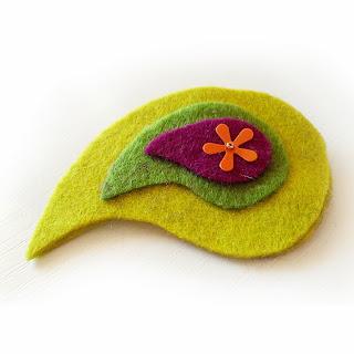 https://www.etsy.com/listing/168506905/green-felt-paisley-clip-paisley-hair