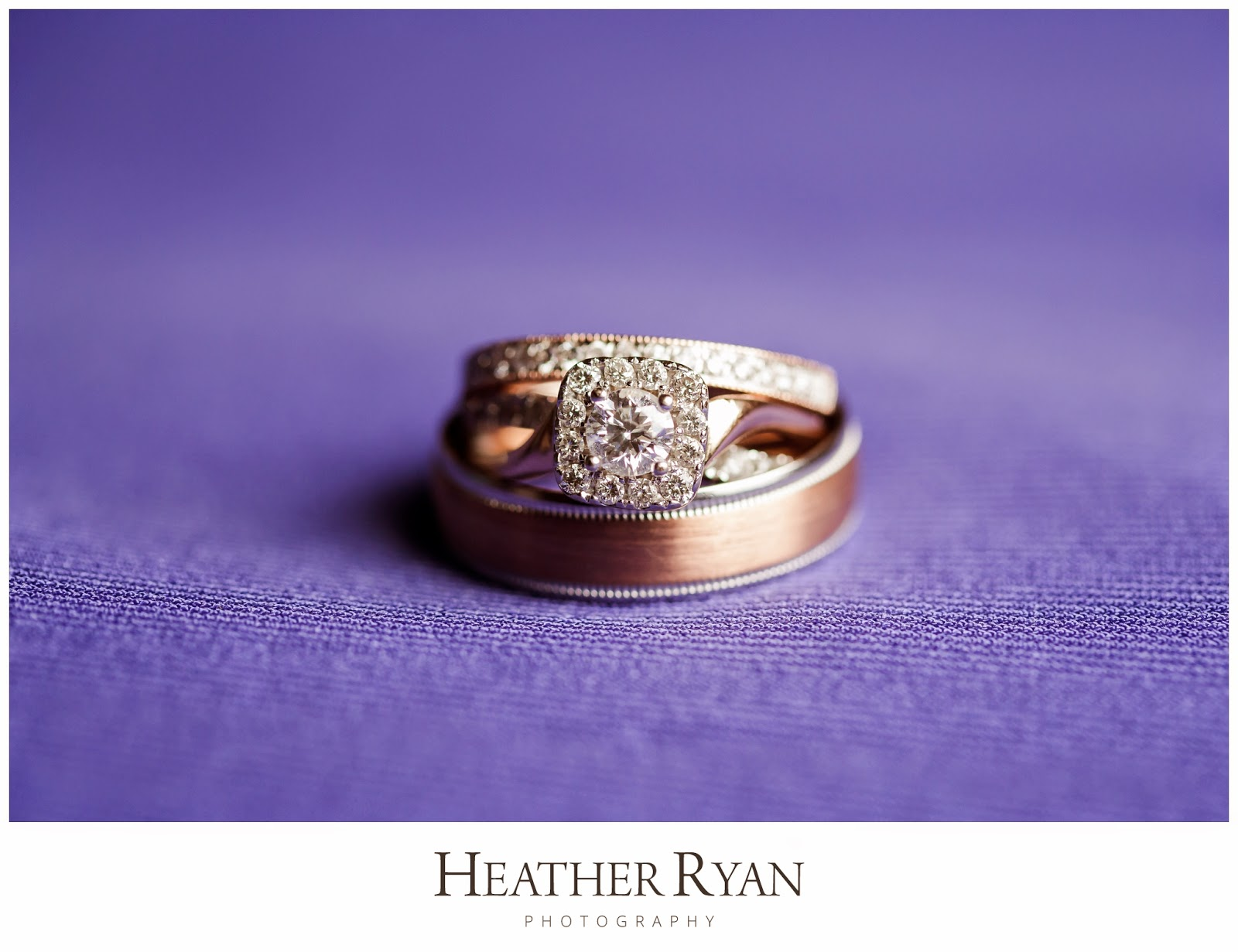 Rose Gold Wedding Ring Set | Photos by Heather Ryan Photography