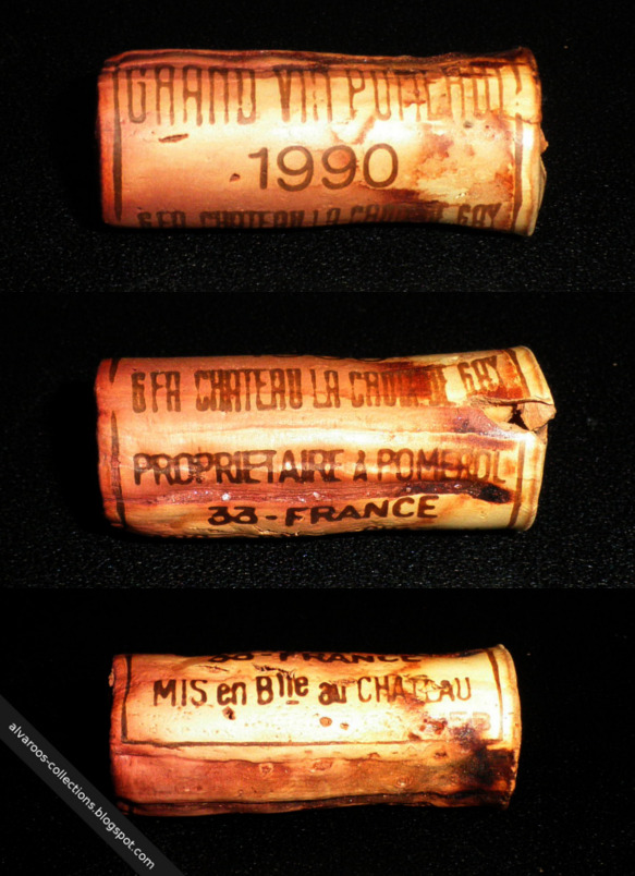Destroyed wine cork: Chateau La Croix De Guy (Pomerol) 1990