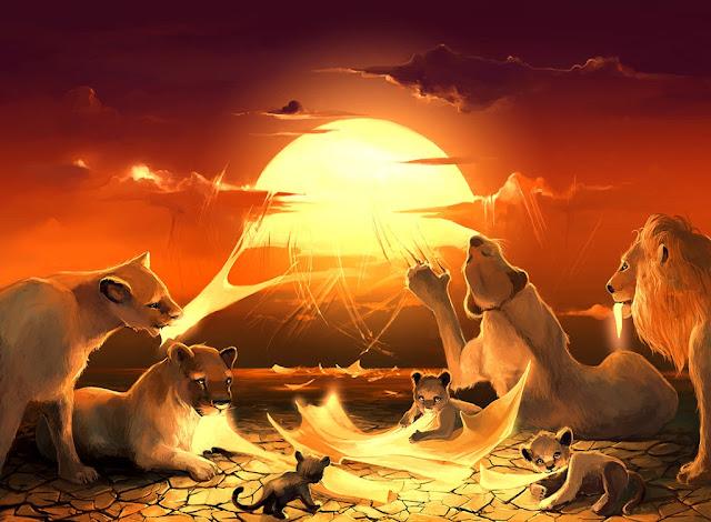 digital art scenery,sunrise,5 stars