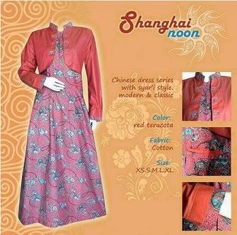 Gambar Baju Gamis Batik Shanghai Noon