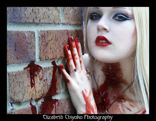 Bloody Blonde Goth Girl Dark Gothic Wallpaper