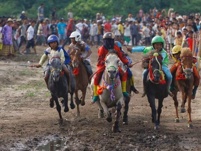 Balap Kuda Tradisional di Lombok