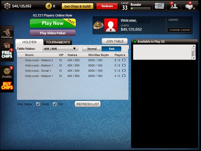 How to find empty table in zynga poker paulson poker chips wholesale