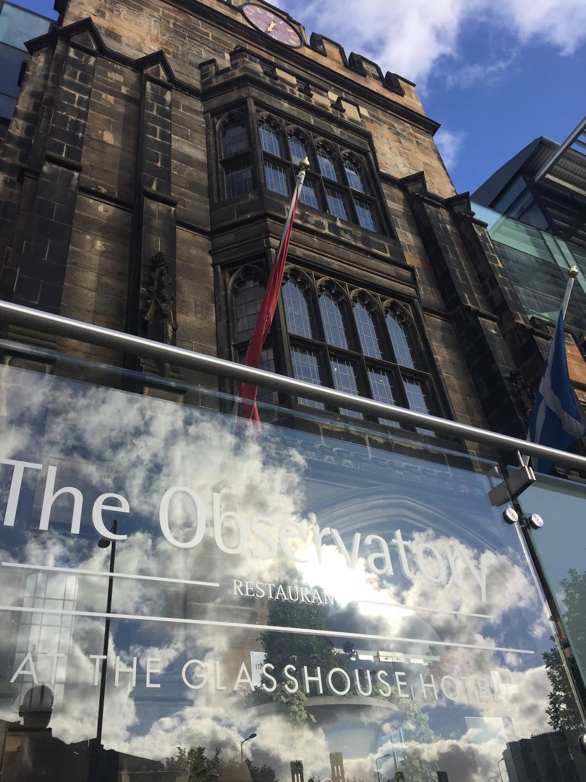The Observatory Restaurant at The Glasshouse Hotel Edinburgh