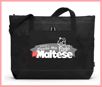 Heart Maltese Tote Bag