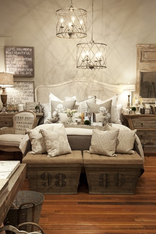 Ashley barrett designs trending now rustic chic for Rustic elegant bedroom