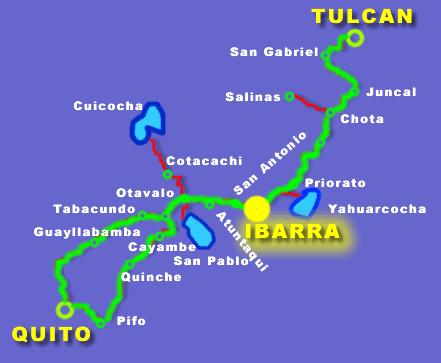 cómo llegar mapa - Hosterías turísticas en Ecuador - Hostería El Prado